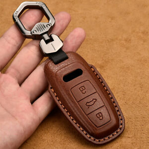 For 2019 2020 Audi A6l A8l A6 A7 A8 Genuine Leather Key Fob Protector Cover Case