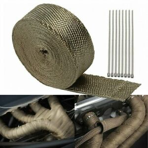 Exhaust Heat Wrap Titanium Header Turbo Roll Pipe Manifold Insulation 2 x 50ft D
