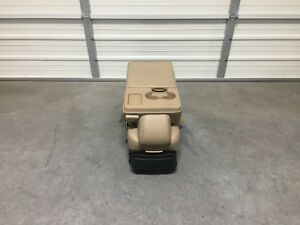 2009 2014 Ford F150 Center Console Tan Leather Jump Seat Nice