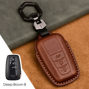 For Toyota Camry Prius Rav4 Corolla Genuine Leather Remote Key Case Cover Holder