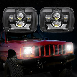 For Jeep Cherokee Xj Accessories 5x7 7 x6 Led Headlight For Chevy Express Van