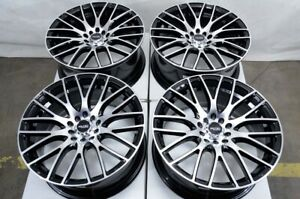 17 Wheels Miata Is300 Honda Civic Accord Acura Rsx Corolla Impreza Black Rims