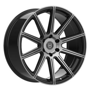 4 G42 Mod 22 Inch Black Tint Rims Fits Nissan Frontier Nismo 2005 08