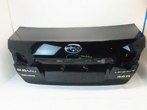 10 14 Subaru Legacy Rear Trunk Lid Deck Black 2010 2014 Sedan