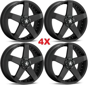 18 Wheels Rims Kmc Satin Black 18x8