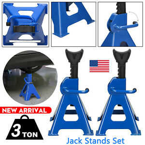 Jack Stands 6ton Set Pair Of 1ratcheting Locking Adjustable Automotive 0 Ship