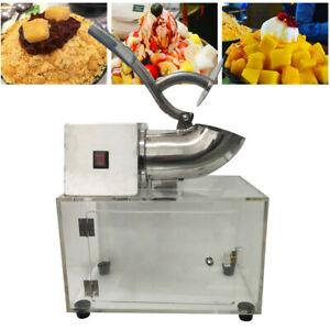 Commercial Snow Cone Making Machine Electric Ice Shaver Ice Shaving Crusher 200w