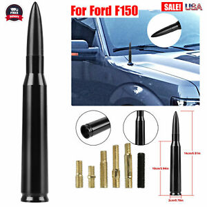 Caliber Bullet Antenna Heavy Gauge Billet Short Kit For Car Ford F150 Black
