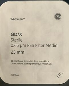 5 Whatman Syringe Filter Gd x Glass Microfiber 45um Pore Size 25mm New And Seal