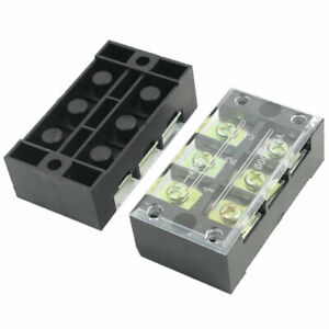 Dual Row 3 Position Screw Terminal Electric Barrier Strip Block 600v 15a