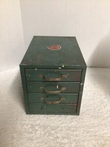 Vintage Wards Master Quality Metal 4 Drawer Small Parts Cabinet