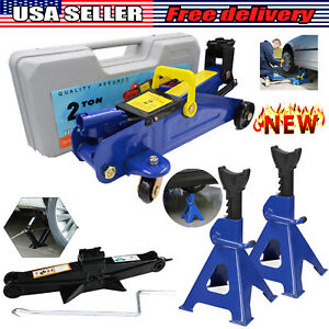 Car Floor Jack Stands Hydraulic Low Profile 3t Lift Auto Heavy Lifting Garage