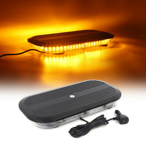17 Inch Led Strobe Warning Emergency Beacon Rooftop Light Bar For Vehicles Amber