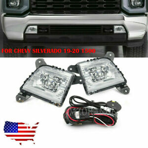 Led Bumper Driving Fog Lights Switch Kit Drl For 19 20 Chevy Silverado 1500 Us
