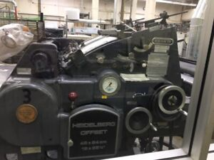 1977 Heidelberg Kord64 Grey Printing Press