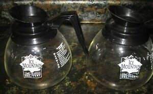 Lot Of 2 Ice Mountain Coffee Pot decanter carafe For Commercial 64 Oz Black