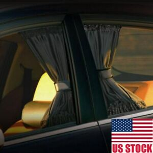 2x Car Uv Sun Shade Curtains Sides Window Visor Mesh Cover Shield Protection