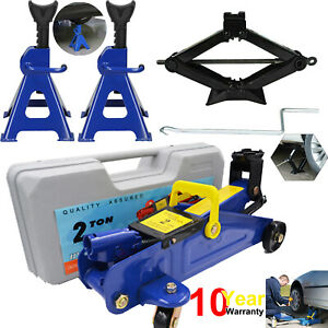 Low Profile Floor Jack Stand Combo Car Truck Lift Shop Hydraulic Trolley 2 3t