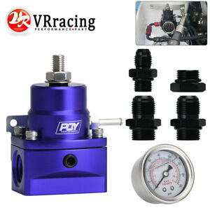 An8 High W Boost 8an 8 8 6 Efi Fuel Pressure Regulator With Gauge