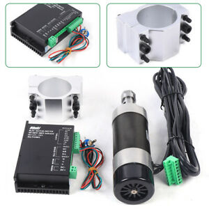 Brushless Spindle Motor 400w Er16 48v Dc W 55mm Clamp For Cnc Router 12000r min