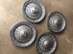 Vintage 14 Chevrolet Chrome Wire Spoke Wheel Caps