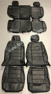 2011 2012 Jeep Wrangler 4 door Black Perforated Leather Seat Covers Upgrade Set