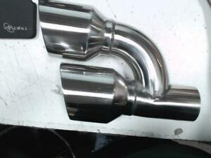 Return Unused Exhaust Tips 2 5 Inlet Dual 4 Out Staggered Stainless Steel