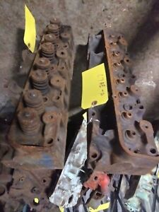 Pair Ford Fe Heads Big Block C7ae a Castings No Valves Or Springs