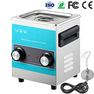 Vevorknob Ultrasonic Cleaner Ultrasonic Cleaning Machine 2l 304 Stainless Steel