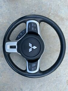 13 14 15 Mitsubishi Lancer Ralliart Steering Wheel Srs Leather Switches Oem P3