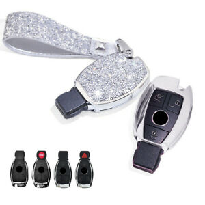 Crystal Car Remote Cover Skin For Mercedes Benz C S M E Sl Slk Class Key Fob Bag