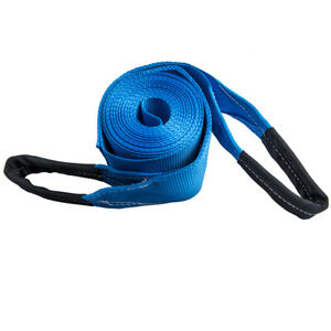 4 X 30ft Tow Strap W Loop Ends 20000lb Capacity Recovery Rescue Winch Sling