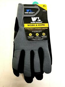 Wells Lamont Work home Hi Dexterity Synthetic Leather Gloves New