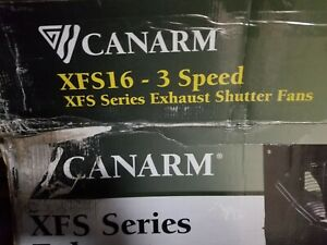 Canarm Xfs16 Shutter Wall Mount Exhaust Fan 16 3 Speed 2300 2000 1800 Cfm