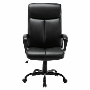 Pu High Back Office Chair Executive Leather Computer Desk Swivel Task Chair