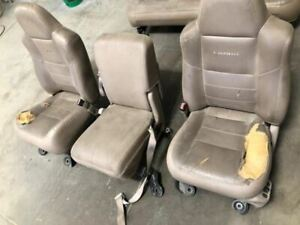 Used 02 F250 8h Lariat Front 40 20 40 Seats Power Torn Leather For Redo 28478