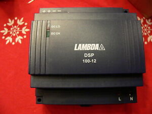 Lambda Dsp100 12 Power Supply Input 1 X 100 230 Vac Output 12vdc 72 Watt 6 Amp