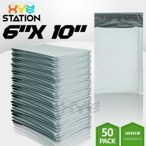 50 Pcs 0 6x10 6x9 Poly Bubble Mailers Padded Envelope Shipping Supply Bags