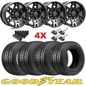 Trd Black Wheels Rims Tires 265 70 17 At Goodyear Wrangler Ats Package