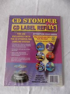 100 Pack Cd Stomper Pro Cd Label Refills For Use With Cd Stomper Pro Labeling