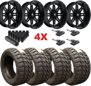22 Fuel Hostage Black Wheels Rims 33 12 50 22 Tires Mt F 150