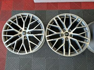 Set Of 4 Oem 2017 Audi R8 Track Package 20 Wheels Rims Silver