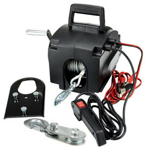 Portable Electric Winch 62000 Lb Remote Towing Hitch Truck Trailer Boat 12v 300w