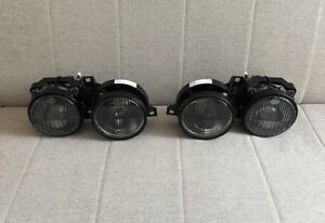 Bmw E30 Hella Smiley Smoked Ellipsoid Headlights Projector Euro 325is 325e M3