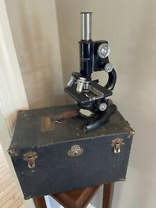 Bausch And Lomb Vintage Monocular Microscope Box Patents From 1915 1925