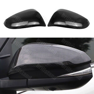 For Toyota Venza Harrier 2021 Carbon Style Rearview Side Mirrors Cap Cover