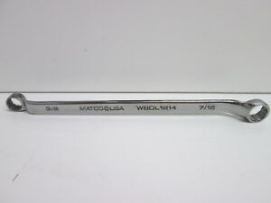 Matco Tools 3 8 X 7 16 In Offset 12 Point Box Wrench Part Wbdl1214 Usa