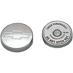 1949 1954 Chevy Radiator Cap Aluminum With Bowtie Logo With Small Block