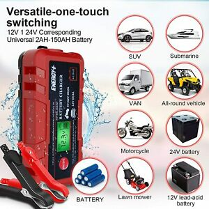 Multi Purposes Battery Charger 6 12v 4a Smart For Automotive Car Motorcycle Lawn