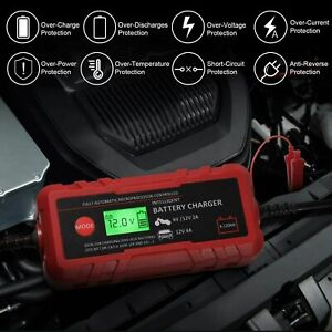 Smart Battery Charger 6v 12v Automotive Battery Charger Portable Batterymaintai